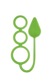 Renegade 3 ringen anaalplug medium (Groen)