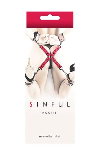 Sinful hogtie (Roze)