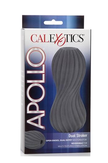 Apollo Dual Stroker masturbatie sleeve (Grijs)