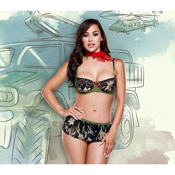 Baci Camouflaged Army Uniform (S/M)