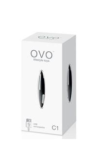 OVO C1 Rechargeable Vibrator (Zwart)