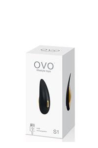 OVO S1 Rechargable Vibrator (Zwart)
