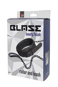 Blaze halsband met ketting (Zwart)