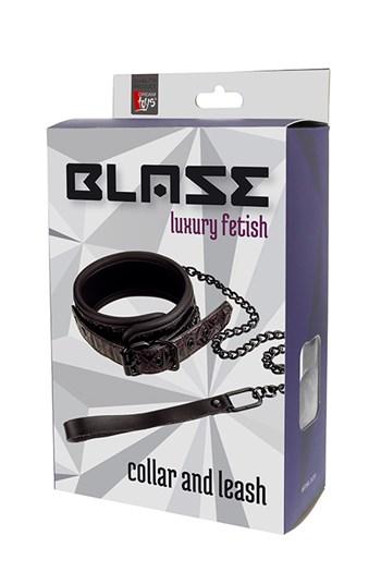 Blaze halsband met ketting (Paars)