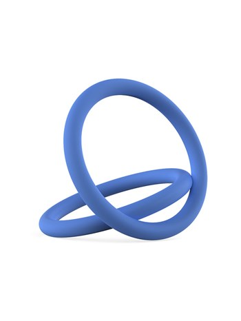Blauwe siliconen coc