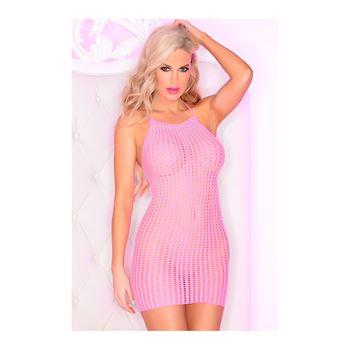 Roze visnet mini jurk