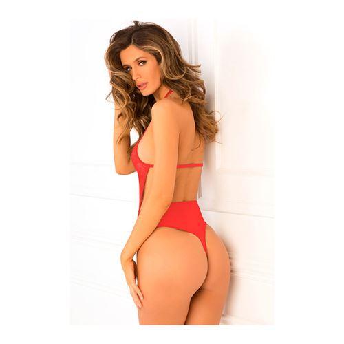 Hot Pursuit kanten bodysuit rood