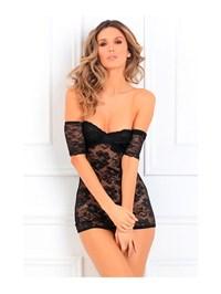 Verleidelijke half doorschijnende jurk