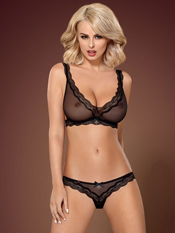 Obsessive doorzichtig lingerie setje