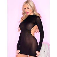 Zwart jurkje met open rug