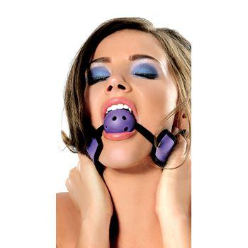 FF paarse ball gag met gaten