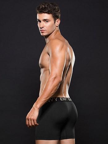 Zwarte lowrise elastische boxer