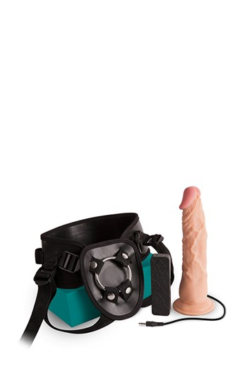 Sexxbian vibrerende strap-on 20,5cm