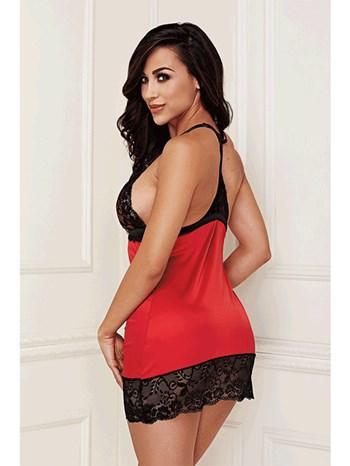 Baci 2-delige rode lingerie set