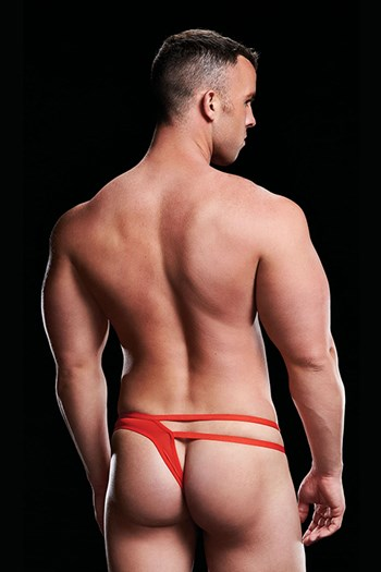 Envy Low-Rise Thong Cut-Out jockstrap (Rood)