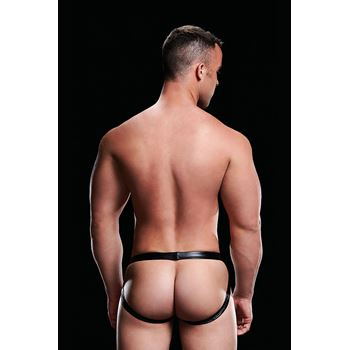 Envy Low-Rise Wet Look jockstrap (Zwart)