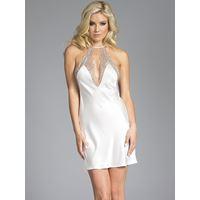 BeWicked Grace witte satijnen jurk