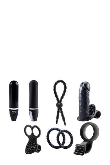 Tutti zwarte sextoys set