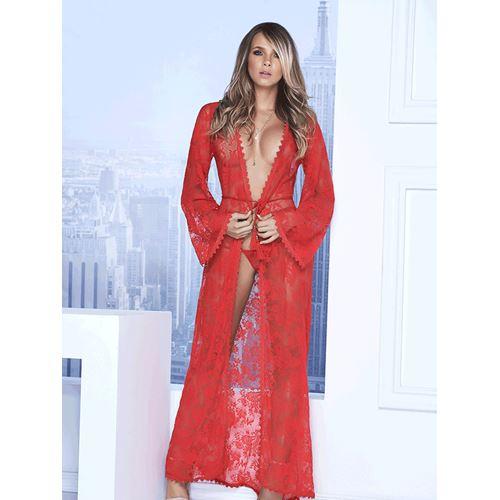 Mapale lange jurk met g-string (rood)