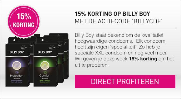 15% korting op Billy Boy