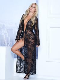 Mapale lange jurk met g-string (zwart)