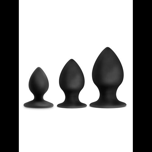 Image of Luxe zwarte anaalplug set