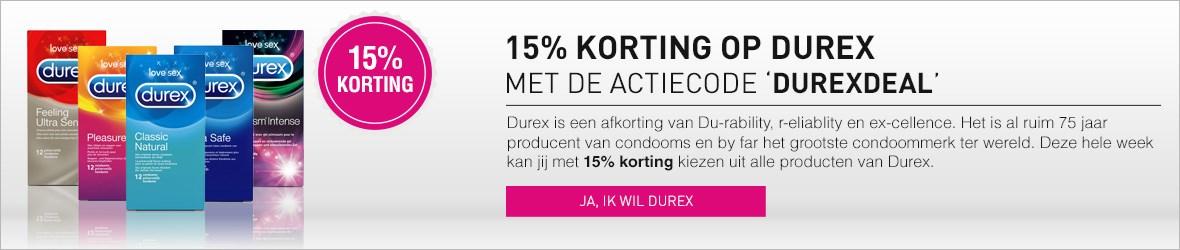 15% korting op Durex