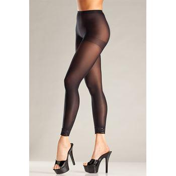 Voetloze panty met kanten rand