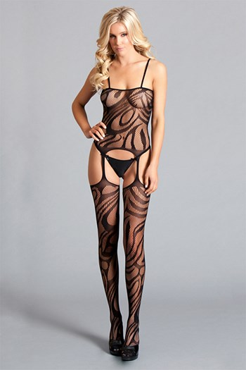 Spaghetti Strap Suspender Bodystocking