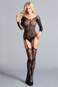 Long sleeve kanten bodystocking