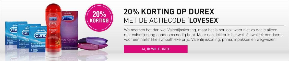 20% korting op Durex