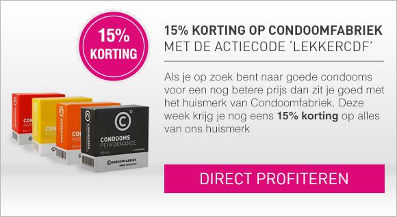 15% korting op Condoomfabriek