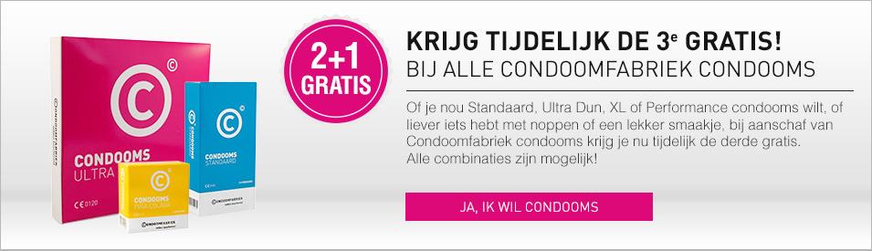 Condoomfabriek condooms 2+1 gratis