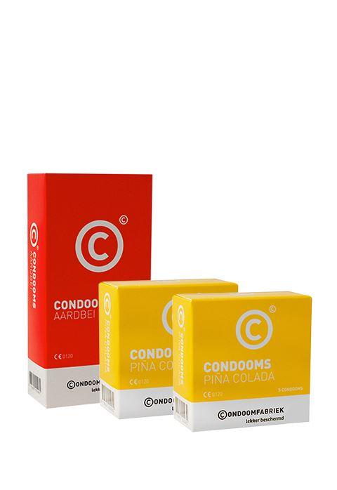 Condoomfabriek Smaakjes condoompakket 20 stuks