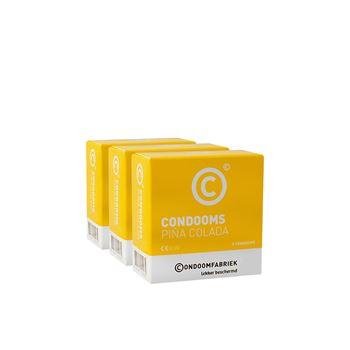 Condoomfabriek pina colada condooms voordeelpakket 15st
