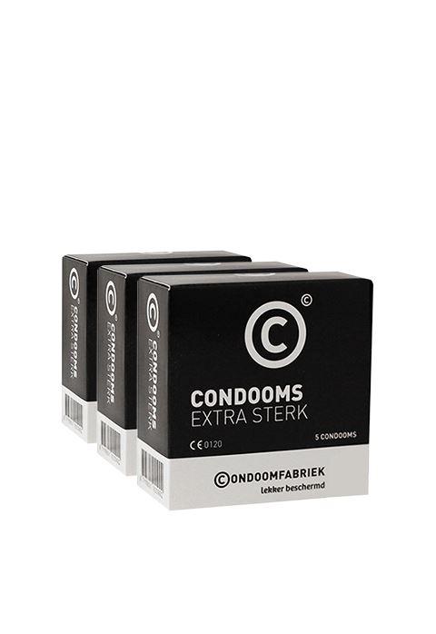 Condoomfabriek Extra Sterk condooms voordeelpakket 15st