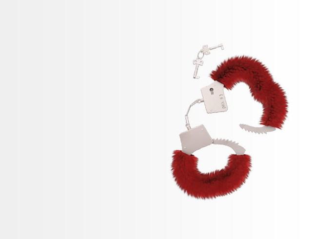 Rode pluche handboeien cadeau