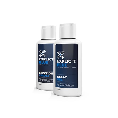 Explicit Blue erection creme + delay gel