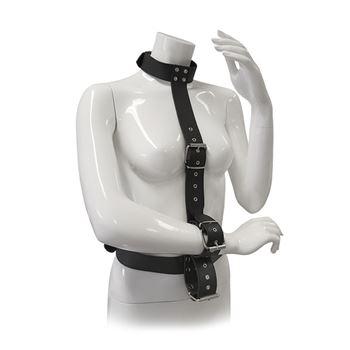Blaze bondageharnas met halsband en handboeien