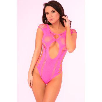 Opengewerkte roze body
