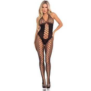 Halter bodystocking visnet