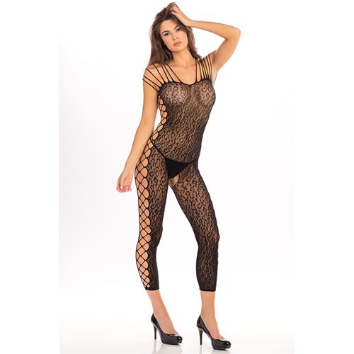 Openkruis bodystocking panter OS