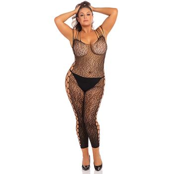 Openkruis bodystocking panter plus