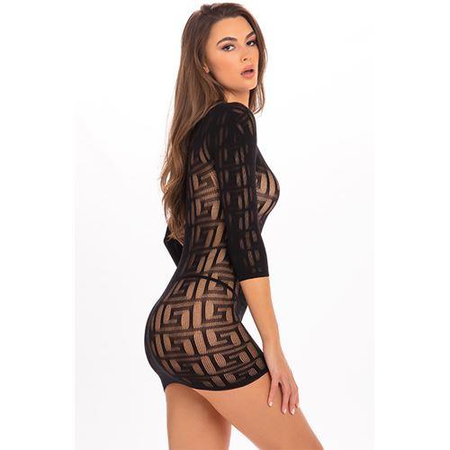 exotic-geometry-mini-dress-black-ml