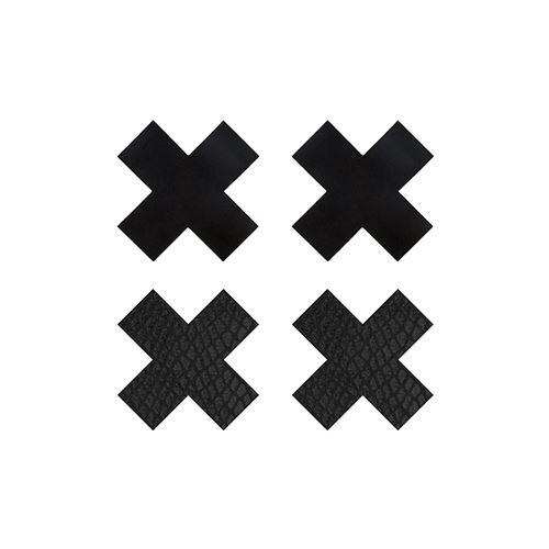 Peekaboo 2 paar tepelstickers X zwart