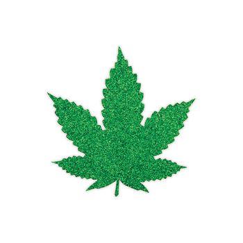 Peekabo 2 paar tepelstickers wietblad groen