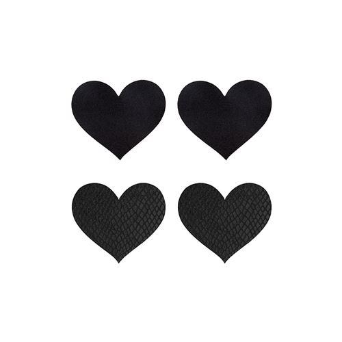 Peekaboo 2 paar tepelstickers zwart hart