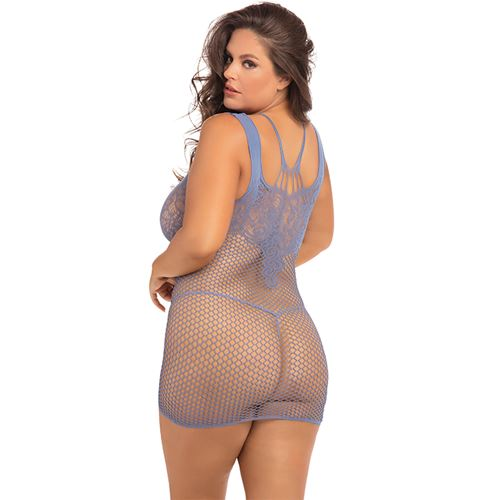 absolutist-lace-net-dress-blue-plus-size