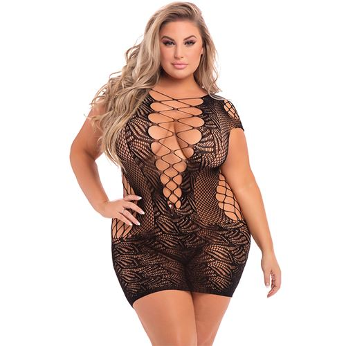 time-2-slay-mini-dress-black-plus-size