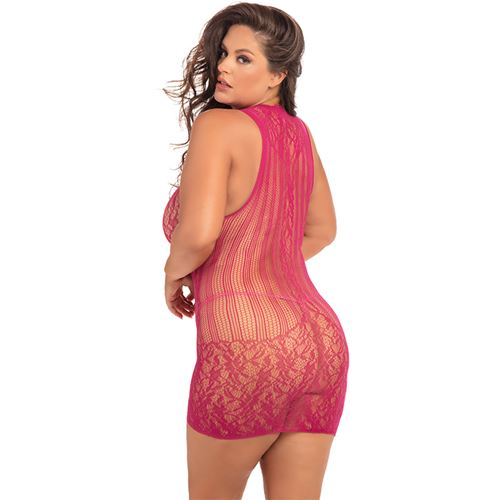reckless-lace-mini-dress-pink-plus-size